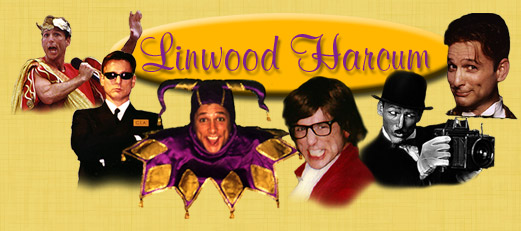 Linwood Harcum's Header, featuring Caesar's Fool, FBI, Jester, Austin Powers, Charlie Chaplin and Mr. TV